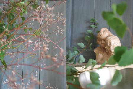 Bouquet vert et parme