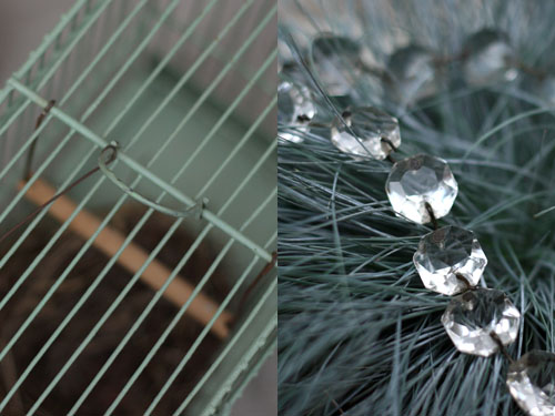 Cage et pampilles