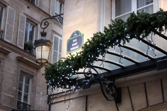 Rue Saint Honoré à Noël