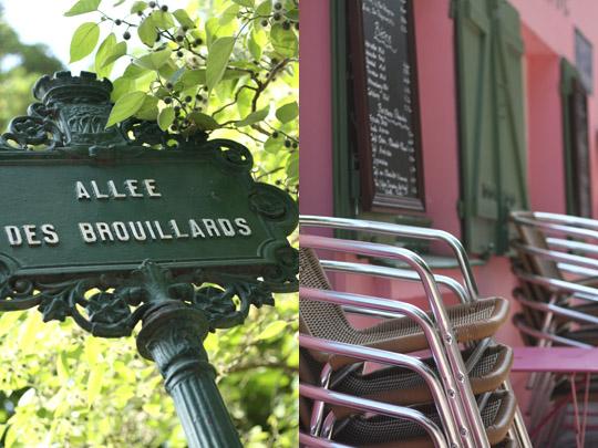 Dans les petites rues de Montmartre