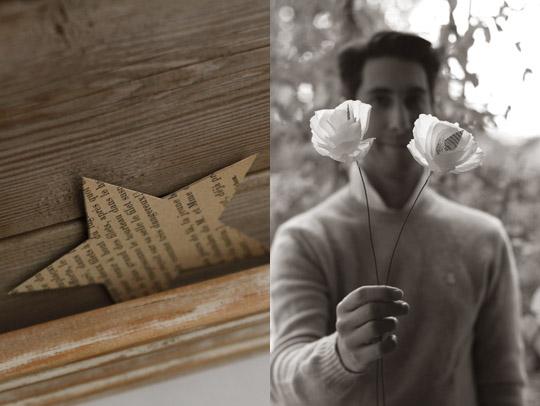 Fleurs en papier faites main