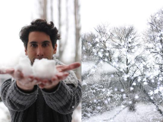 Paris sous 15 cm de neige