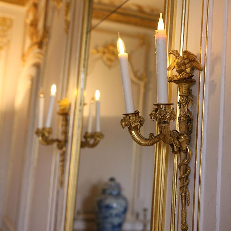 Appliques dorées du XVIIIe siècle au musée Lambinet