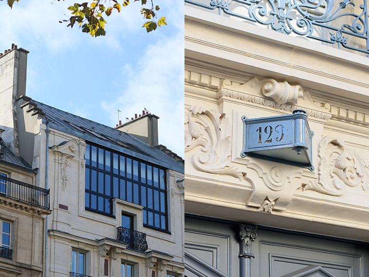 Façades du boulevard Saint-Germain