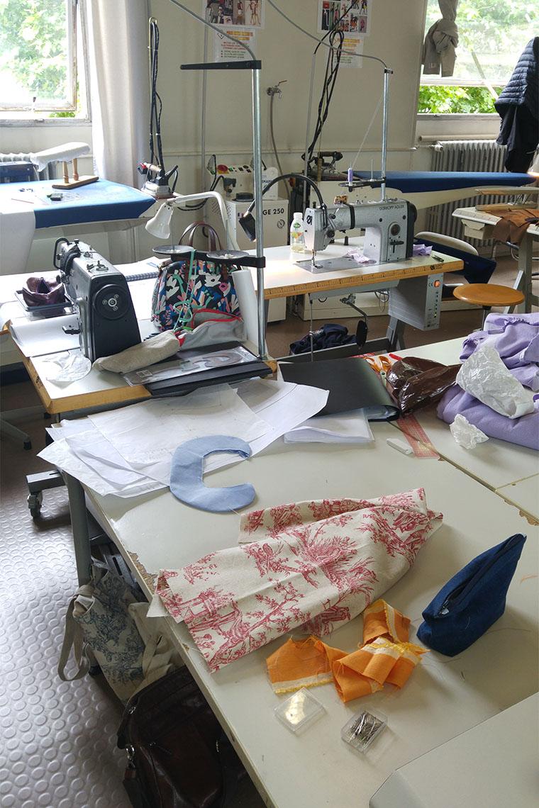 Atelier de couture au Lycée Paul Poiret