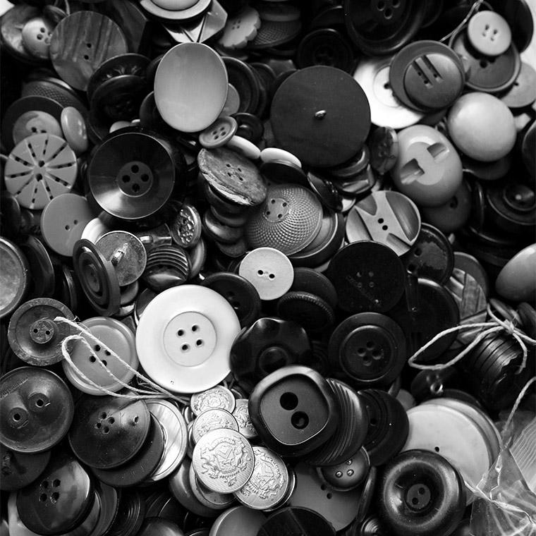Stock de boutons vintage