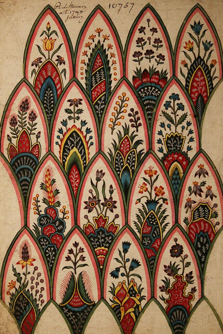 Projet de motifs d'indiennes de Louis-Philippe Lemeunnité