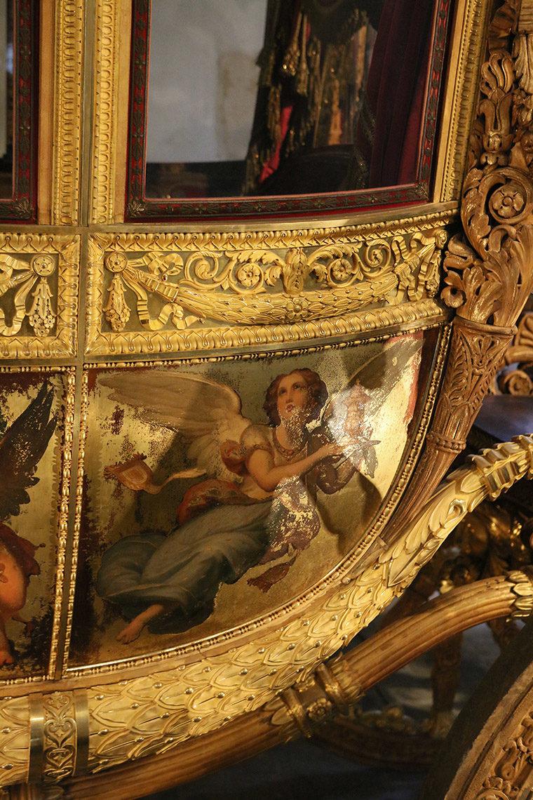Peinture sur le carrosse de Charles X