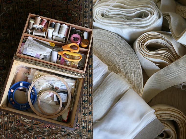 Contenu de ma boîte à couture en bois