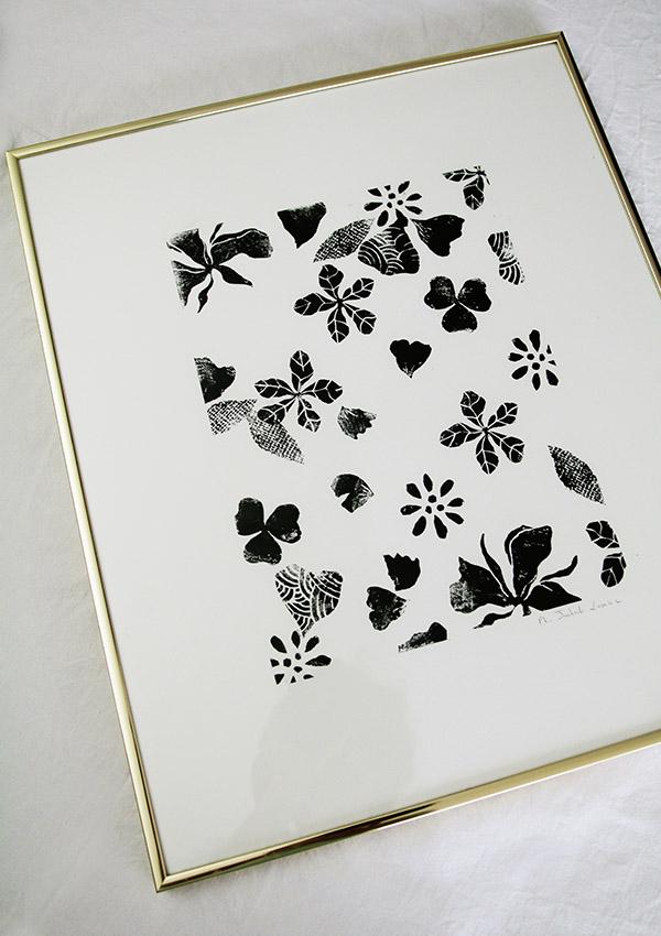 Linogravure noire