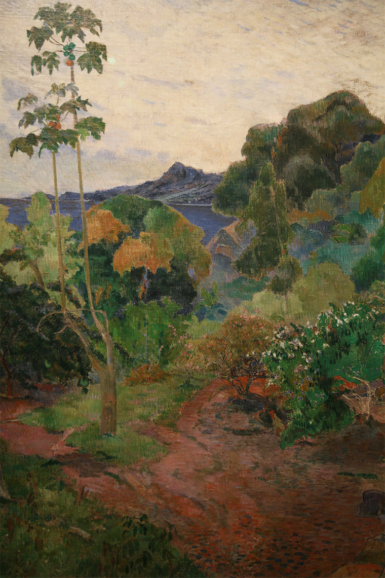 Paysage de la Martinique de Paul Gauguin