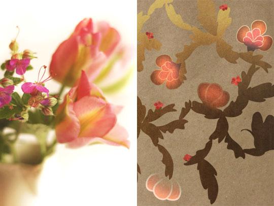 Fleurs de geranium
