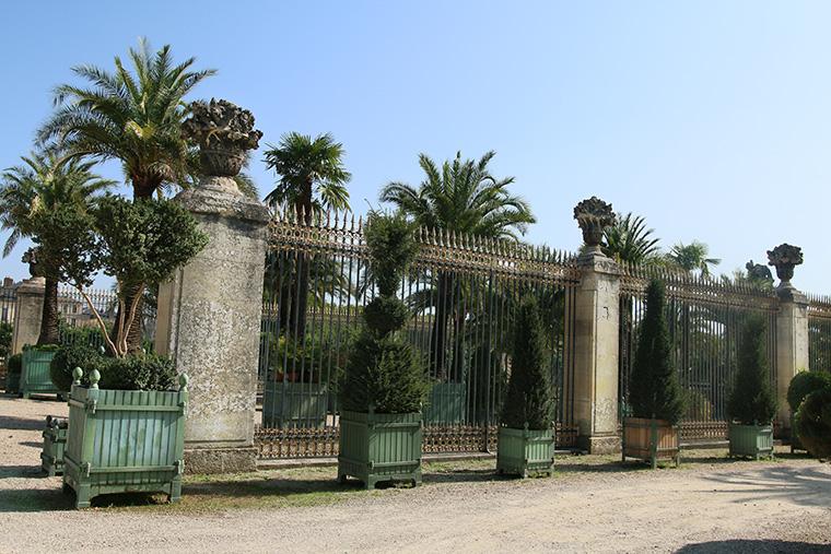 Grilles de l'orangerie de Versailles