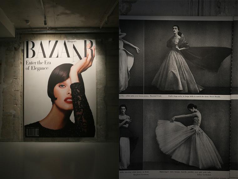 Linda Evangelista en couverture de Harper's Bazaar