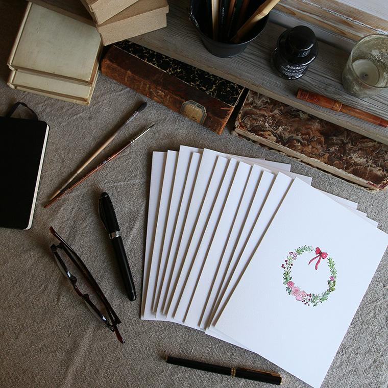 Grandes cartes doubles pour Noël en vente dans la boutique de Gris-bleu