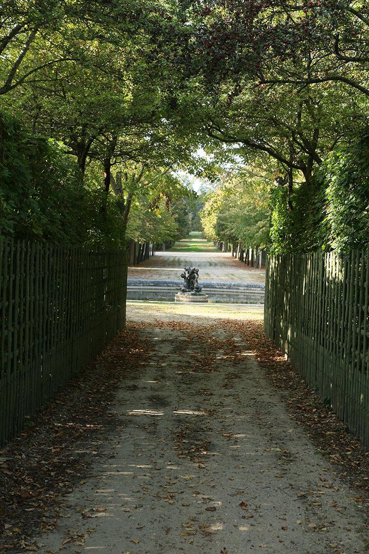 Une allée des jardins du Grand Trianon