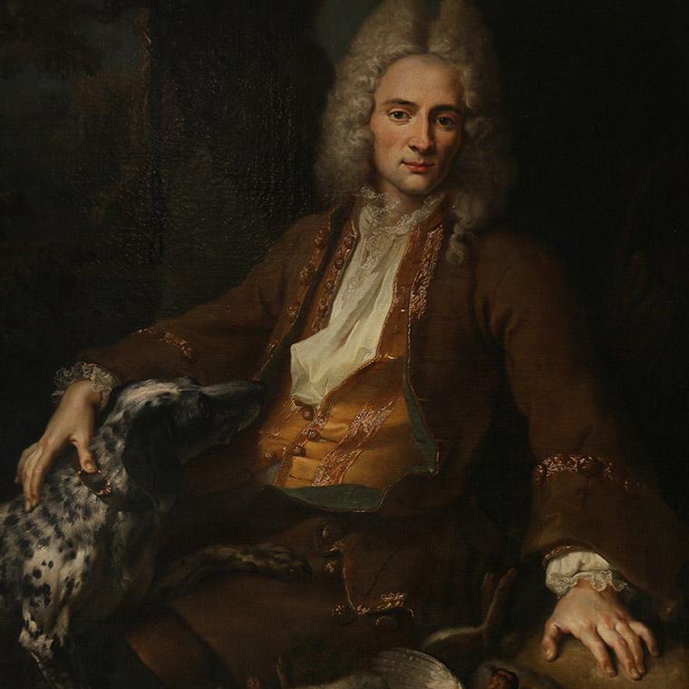 Octave-Alexandre de Nédonchel en chasseur peint par Jean-Baptiste Oudry