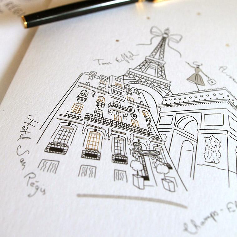 Illustration pour hôtel de luxe