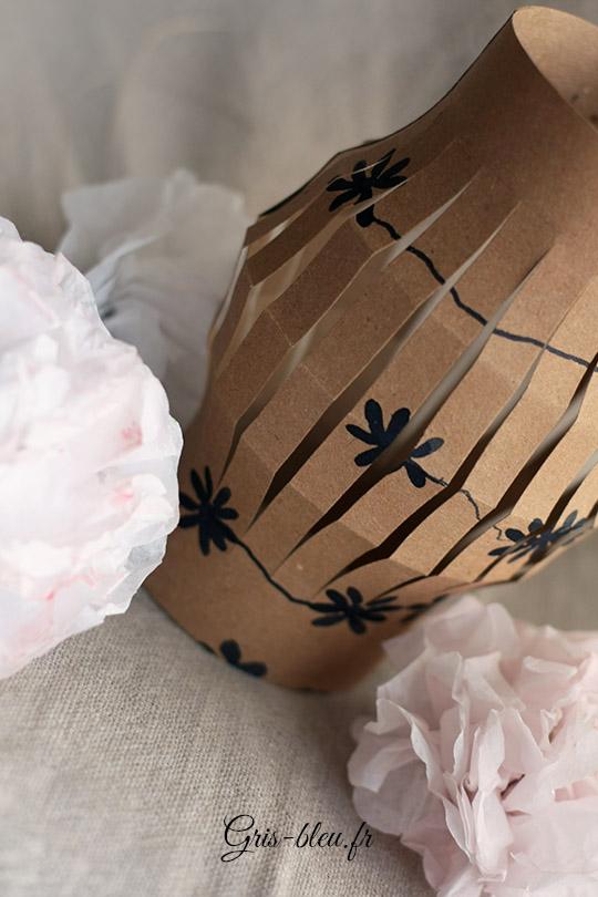 Lampion en papier kraft