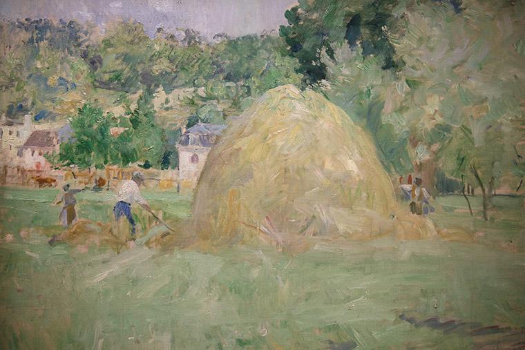 Les foins à Bougival de Berthe Morisot