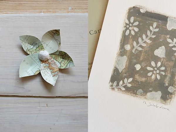 Linogravure blanche