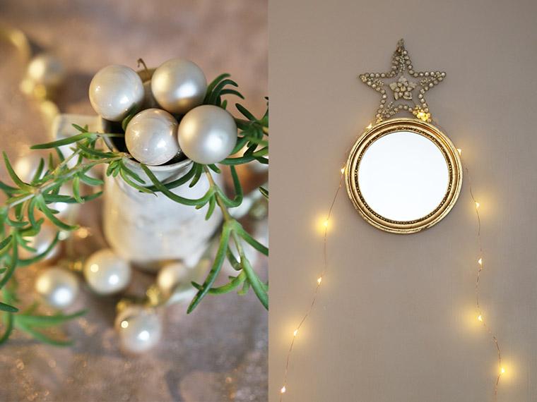 Petit miroir rond et doré