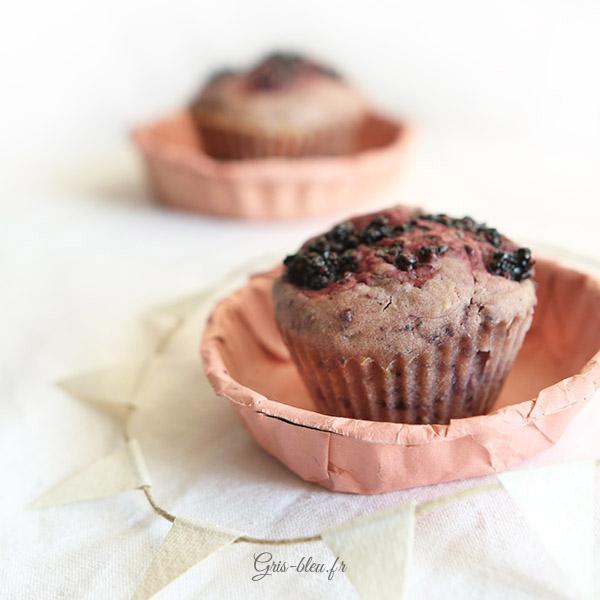 Moelleux muffins à la mûre