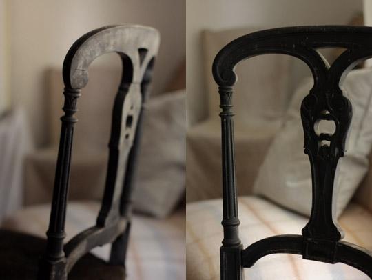 Chaise noire
