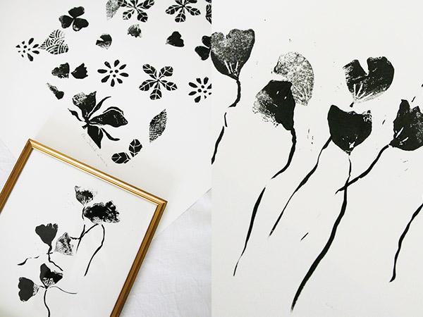 Linogravure encre noire