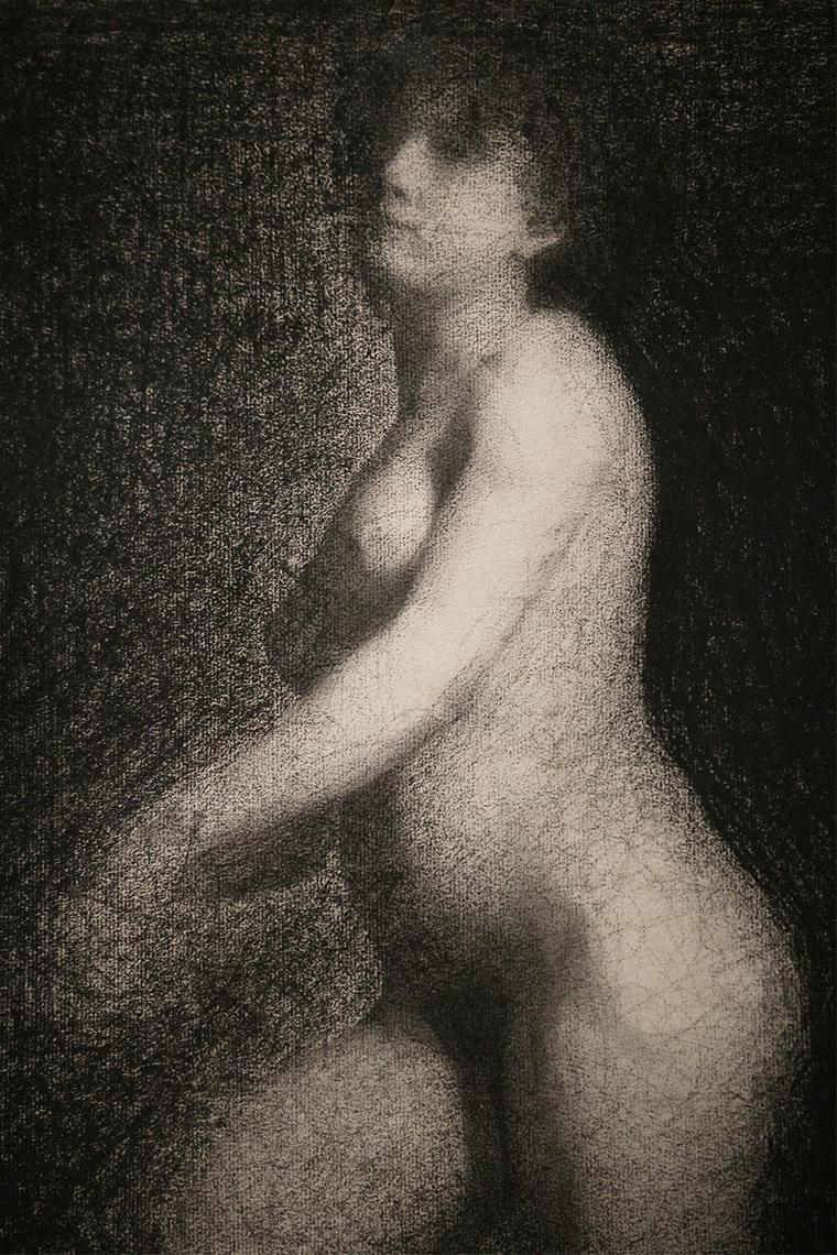 Nu féminin de Georges Seurat