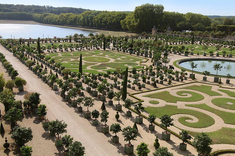 Vue générale de l'orangerie de Versailles