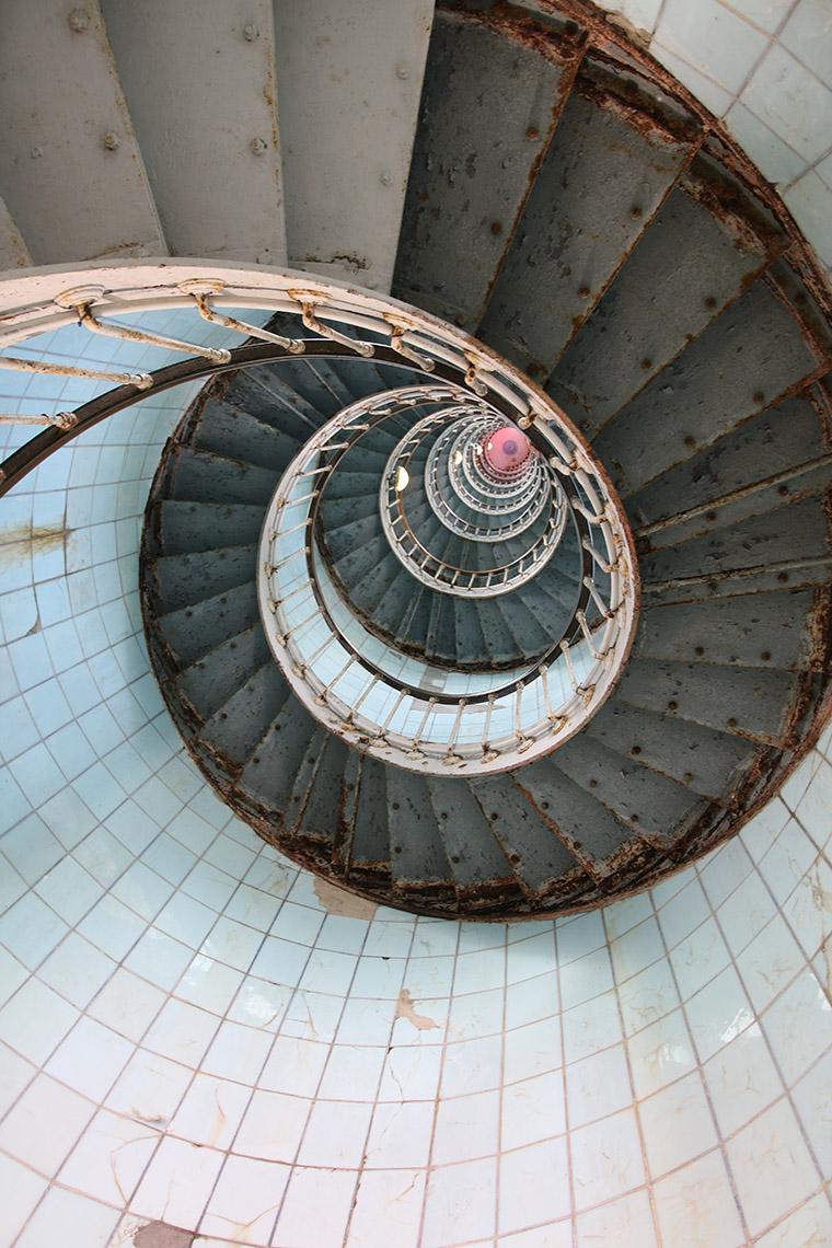 Escalier tournant de phare de la Coubre