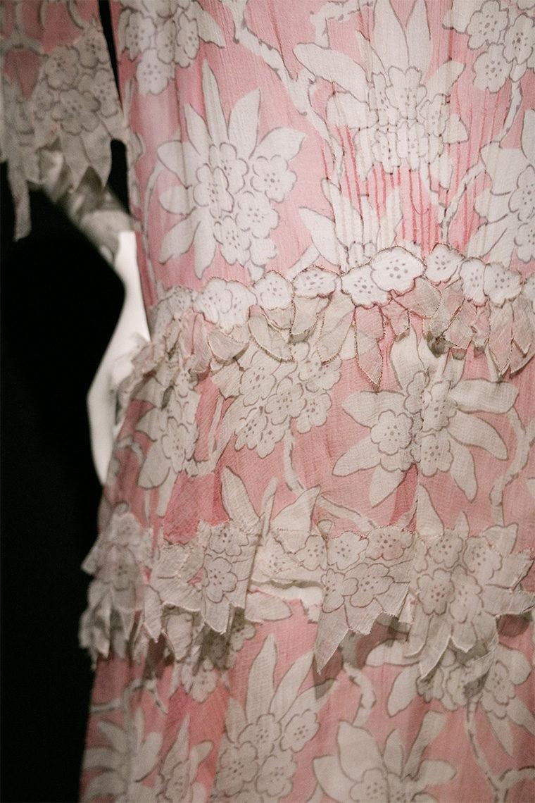 Robe Chanel en mousseline de soie, printemps-été 1930