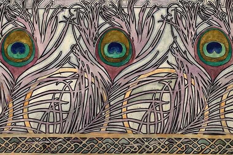 Frise de plumes de paon par Rosa Fuchs