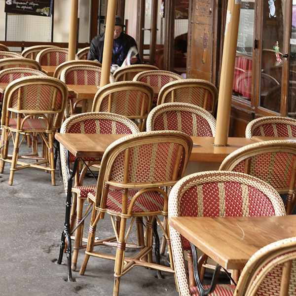 Tables de bistrot