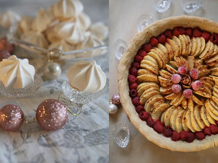 Tarte Pommes-Framboises à la cannelle