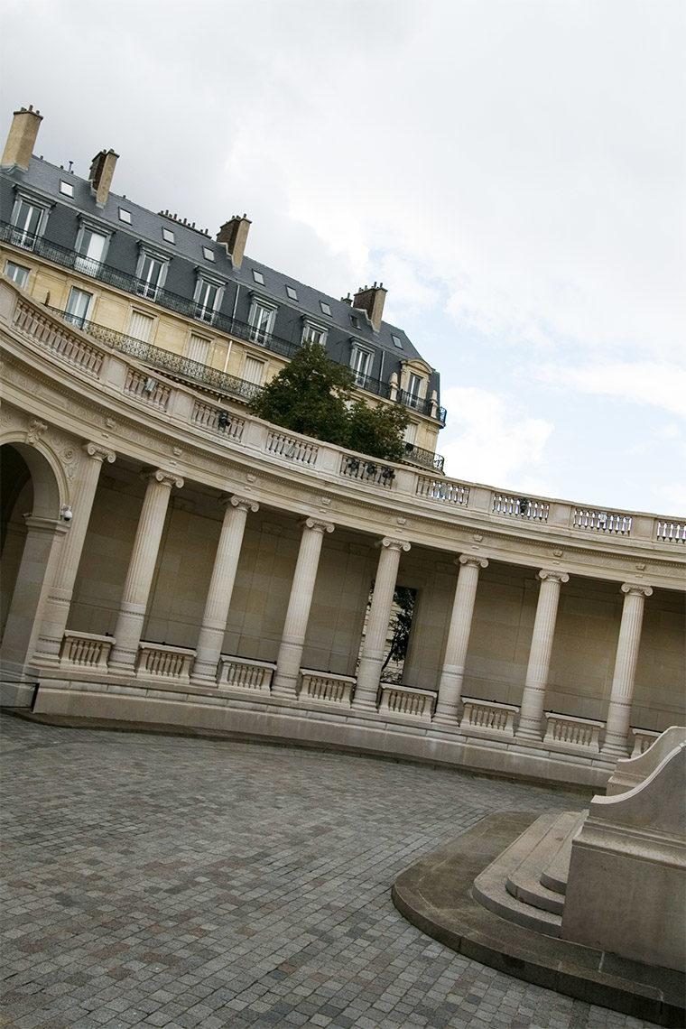 Cour d'entrée du Palais Galliera