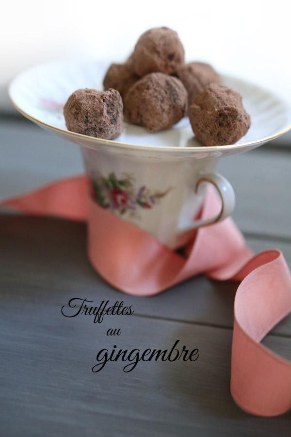Trufettes au gingembre