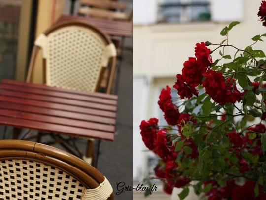 chaises de café