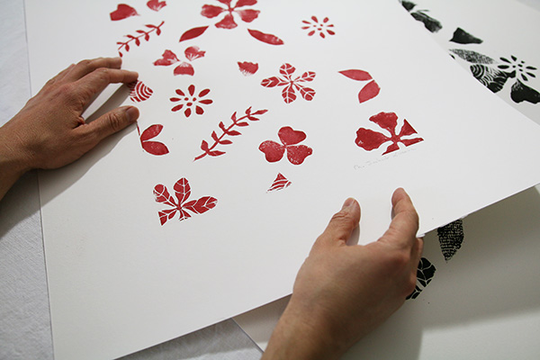 linogravure sur feuille