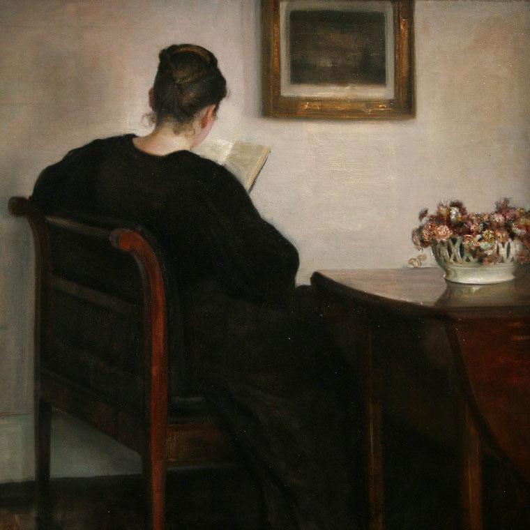 Femme lisant de Carl Holsøe